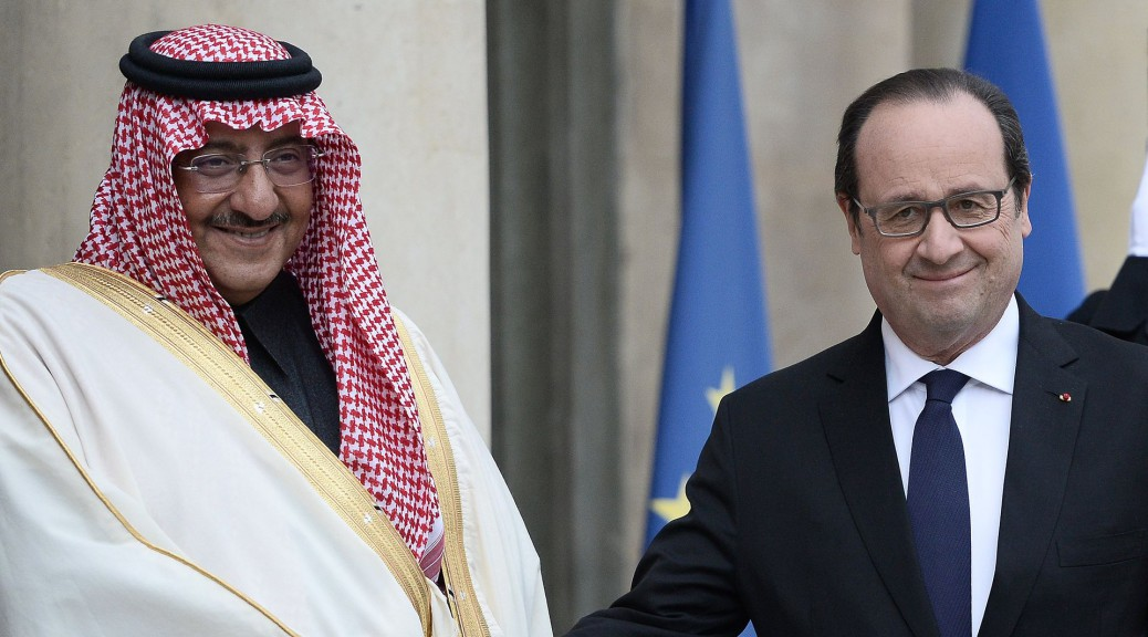 Mohammed ben Nayef Al Saoud et François Hollande