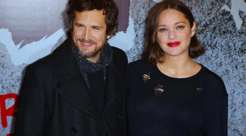 Guillaume Canet and his wife Marion Cotillard attending the Rock N Roll Paris premiere at Cinema Pathe Beaugrenelle in Paris, France on February 13, 2017. Photo by Jerome Domine/ABACAPRESS.COM  | 582085_063 Paris